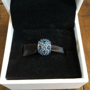 Pandora Blue Crystal Charm - New In Box